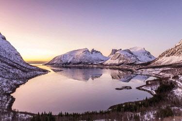CLKFM58673 Sunset at Bergsbotn,Berg,Senja,Norway,Europe