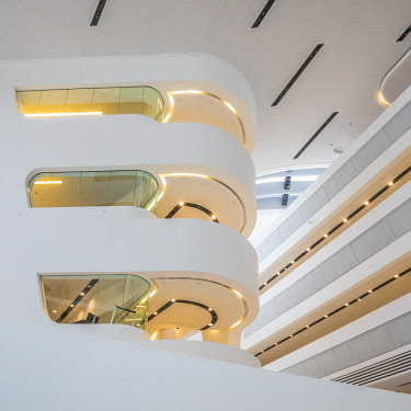AU01580 Library at Vienna University of Economics and Business (by Zaha Hadid) Vienna, Austria