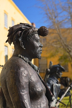 SAF7171AW Statues at Castle of Good Hope, Cape Town, Western Cape, South Africa