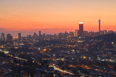 SAF7200AW View of skyline at sunset, Johannesburg, Gauteng, South Africa