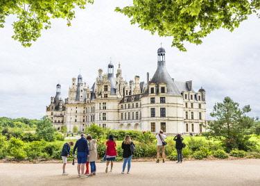 FRA10130AW Château de Chambord, the largest chateau in the Loire Valley, Loir-et-Cher, France