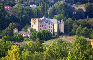 FRA10142AW Allemagne en Provence castle, Allemagne en Provence, Alpes de Haute Provence,  France, Europe,