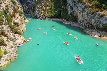 FRA10150AW Lake of St.Croix, Gorges du Verdon, Provence-Alpes-Cote d'Azur, Provence, France
