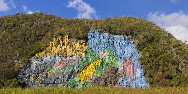 CB02742 Cuba, Pinar del Rio Province, Vinales, Mural de la Prehistoria