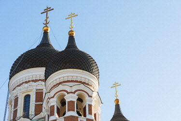 EST1231AW Exterior of Russian Orthodox Alexander Nevsky Cathedral, Toompea, Old Town, Tallinn, Estonia, Europe