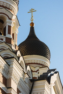 EST1232AW Exterior of Russian Orthodox Alexander Nevsky Cathedral, Toompea, Old Town, Tallinn, Estonia, Europe