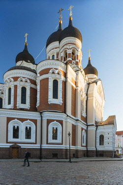 EST1234AW Exterior of Russian Orthodox Alexander Nevsky Cathedral, Toompea, Old Town, Tallinn, Estonia, Europe