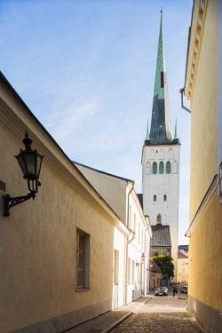 EST1243AW Exterior of St Olaf's church, Old Town, Tallinn, Estonia, Europe
