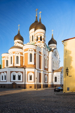 EST1247AW Exterior of Russian Orthodox Alexander Nevsky Cathedral at dawn, Toompea, Old Town, Tallinn, Estonia, Europe