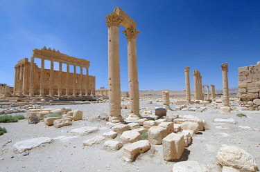 IBLAAA03145200 Temple of Bel, ruins in the ancient city of Palmyra, Palmyra, Tadmur, Palmyra District, Homs Governorate, Syria, Asia