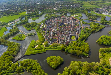 IBLBLO03848637 Aerial view, Naarden, fortified town, Province of North-Holland, Netherlands