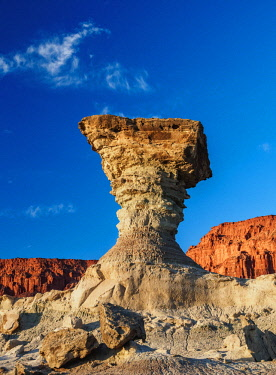 ARG2430AW The Mushroom Rock Formation, Ischigualasto Provincial Park, UNESCO World Heritage Site, San Juan Province, Argentina