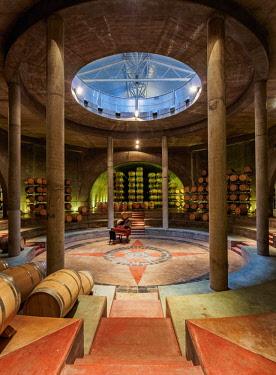 ARG2513AW Wine Cellar, Salentein Winery, Tunuyan Department, Mendoza Province, Argentina