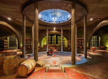 Wine Cellar, Salentein Winery, Tunuyan Department, Mendoza Province, Argentina © AWL Images