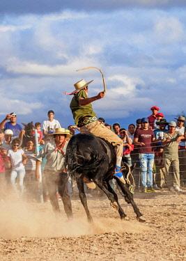 ARG2598AW Jineteada Gaucha, traditional sport, Vallecito, San Juan Province, Argentina