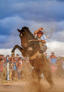 ARG2599AW Jineteada Gaucha, traditional sport, Vallecito, San Juan Province, Argentina