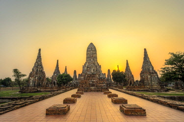 IBLMMW04139605 Buddhist Temple, Wat Chai Watthanaram, Ayutthaya, Thailand, Asia