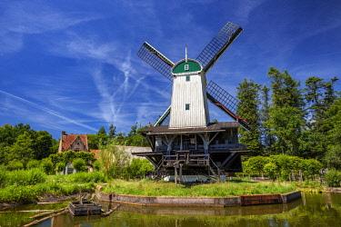 NLD0539 Traditional wind driven sawmill in the Netherlands Open Air Museum, Hoeferlaan, Arnhem, Gelderland, Netherlands.