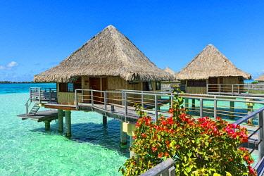 IBLERI03972069 Overwater bungalows, Bora Bora, French Polynesia, Oceania