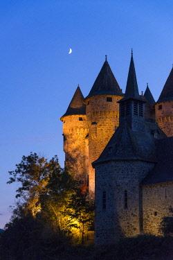HMS2268009 France, Cantal, Lanobre, Château de Val, castle of the thirteenth century