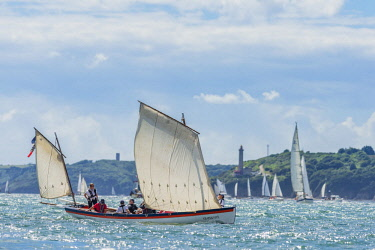 HMS2688970 France, Finistere, Brest, Brest 2016 International Maritime Festival, large gathering of traditional boats from around the world, every four years for a week