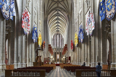 HMS2152621 France, Loiret, Orleans, Orleans Cathedral, Nave and Choir