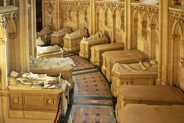 HMS2260708 France, Eure et Loir, Dreux, St. Louis Royal Chapel, Burials of the Orleans family, gisants of the ambulatory