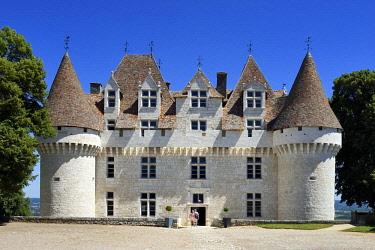 HMS2569155 France, Dordogne, Purple Perigord, the castle of Monbazillac