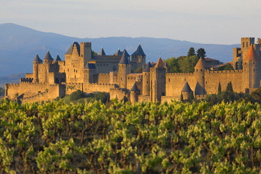HMS2072733 France, Aude, the walled town of Carcassonne, listed as World Heritage by UNESCO