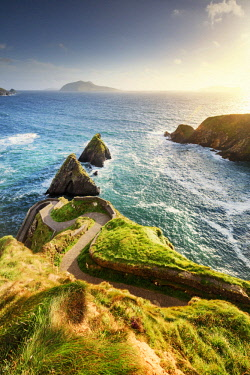 Europe, Northern Europe, Ireland, Kerry, Dingle, Dunquin pier at sunset