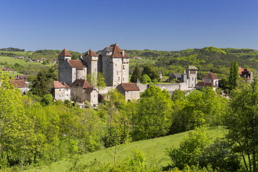 HMS2649616 France, Correze, Curemonte, labelled Les Plus Beaux Villages de France (The Most Beautiful Villages of France)