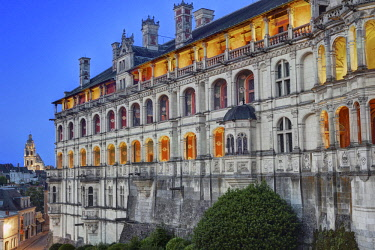 HMS2081986 France, Loir et Cher, Loire valley listed as World Heritage by UNESCO, Blois, castle of Blois, the Loges facade of Francis I wing