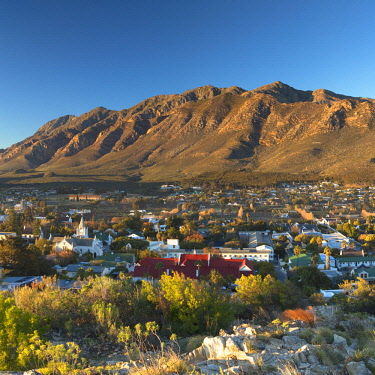 SAF7382AW View of Montagu at sunrise, Western Cape, South Africa
