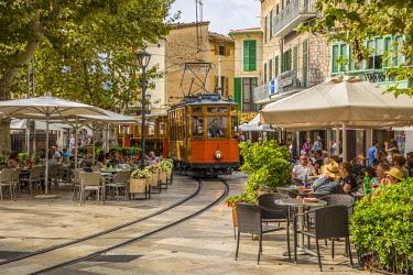 ES06281 Historic tram in Soller, Serra de Tramuntana, Mallorca (Majorca), Balearic Islands, Spain