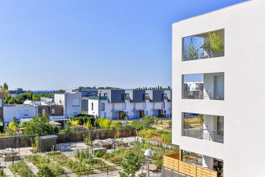 HMS2504536 France, Haute Garonne, Toulouse, Balma, Vidailhan eco-district, eco-neighborhood, housing building