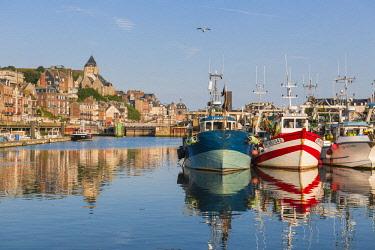 HMS2030574 France, Seine Maritime, Le Treport, the fishing harbour