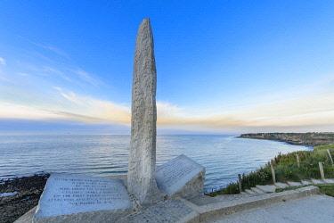 HMS2067912 France, Calvados, Cricqueville en Bessin, Pointe du Hoc, part of Normandy Landings on 6 June 1944, american rangers memorial