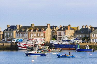 HMS2068118 France, Manche, Cotentin, Barfleur, labeled Les Plus Beaux Villages de France (The Most Beautiful Villages of France), the little fishing harbour