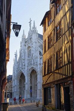 HMS2229387 France, Seine Maritime, Rouen, Gothic Church of St Maclou (15th century)