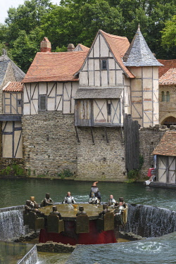 HMS2072607 France, Vendee, Les Epesses, Le Puy du Fou historical theme park, the round table knights show