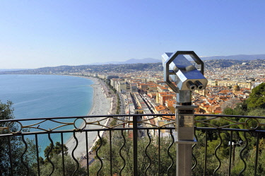 HMS2024961 France, Alpes-Maritimes, Nice, the Promenade des Anglais from the castle hill