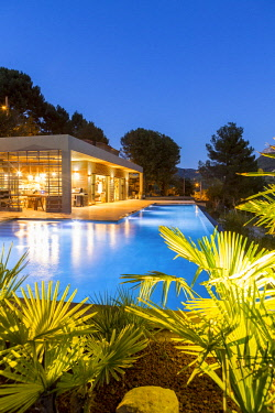 HMS2902772 France, Bouches du Rhone, Cassis, contemporary house, subtle blend of wood and stone