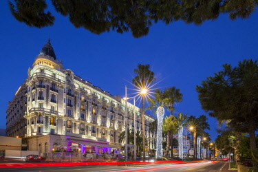 HMS2685825 France, Alpes Maritimes, Cannes, the luxury hotel of the Carlton on the boulevard of Croisette