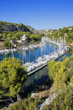 HMS2400779 France, Bouches du Rhone, Cassis, the Calanques National Park, the cove of Port Miou