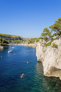 HMS2400781 France, Bouches du Rhone, Cassis, the Calanques National Park, the cove of Port Miou