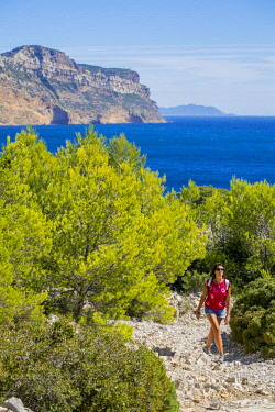HMS2400786 France, Bouches du Rhone, Cassis, the Calanques National Park, the cove of Port Miou