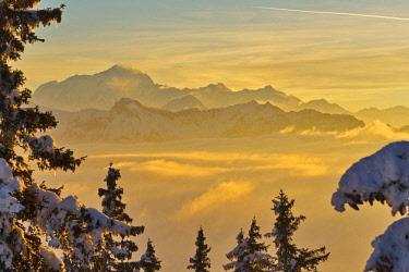 HMS2189061 France, Haute-Savoie, the massif of the Mont Blanc