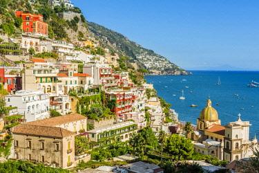 CLKAC69938 Positano, Amalfi coast, Salerno, Campania, Italy. Positano cityscape