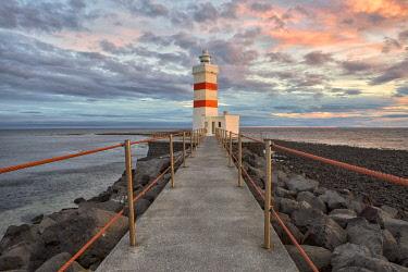 CLKGA68227 Lighthouse of Gardur, Reykianes peninsula, Western Iceland,Iceland