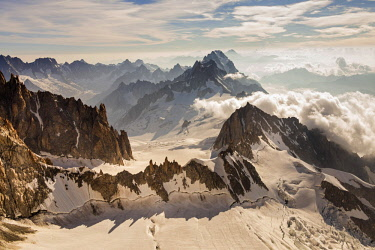 CLKGM45343 The crests of Mount Blanc. Courmayer, Aosta valley, Italy